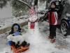 Marino i Ivano s HR snjegovićem